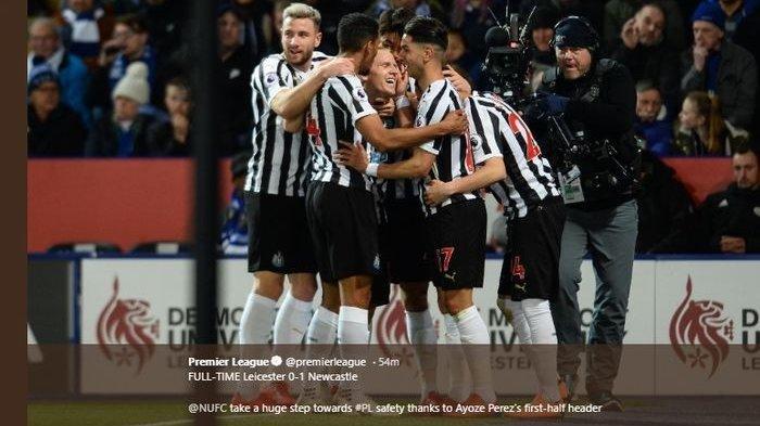 Menang 1 Gol Atas Leicester City, Newcastle United Terhindar Degradasi dari Liga Inggris