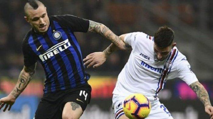 Inter Milan Diperingkat 3 Liga Italia Usai Radja Nainggolan Memasukkan Bola ke Gawang Sampdoria