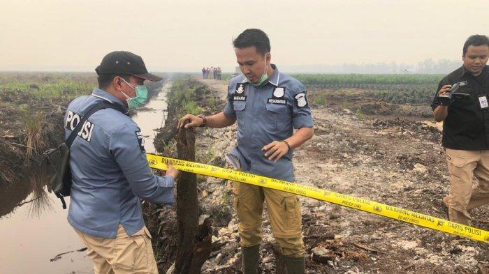 Polda Kalteng Selidiki 15 Korporasi yang Lahannya Terbakar, Bersama Tenaga Ahli Lakukan Olah TKP