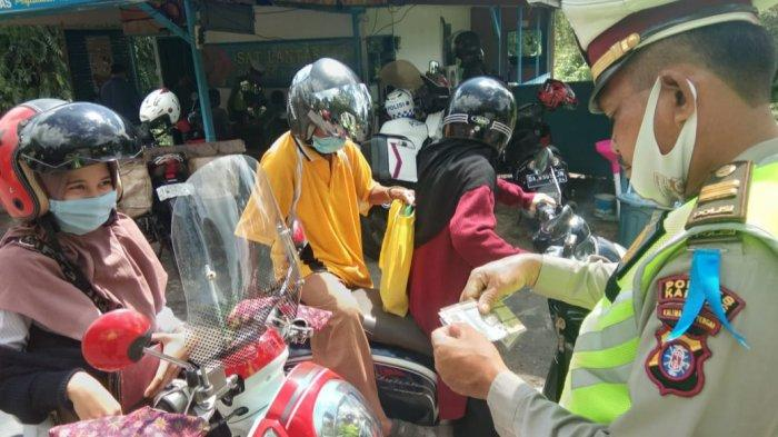 Puluhan Pelanggar Terjaring di Operasi Patuh Perdana Satlantas Polres Kapuas