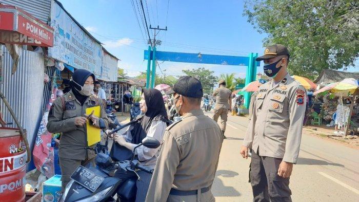 Operasi Yustisi di Pasar Plambon Tabalong, Empat Warga Kedapatan tak Pakai Masker