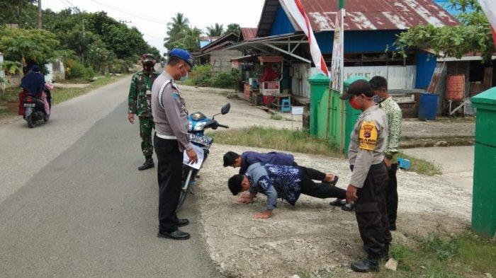 Warga Tak Pakai Masker di Kecamatan Halong, Kena Hukuman Push Up