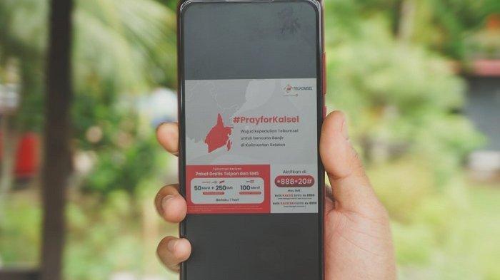 Telkomsel Gratiskan Telepon dan SMS untuk Pelanggan yang Jadi Korban Banjir di Kalsel