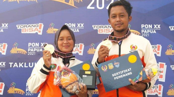 Kalahkan Tuan Rumah, Atlet Panahan Alex dan Linda Raih Perunggu untuk Kalimantan Tengah