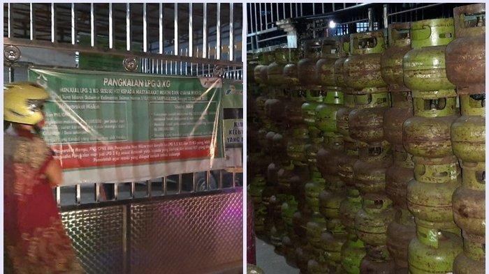 Pangkalan di Banjarmasin Digerebek Petugas Ditreskrimsus Polda Kalsel, Jual LPG 3 Kg di Atas HET
