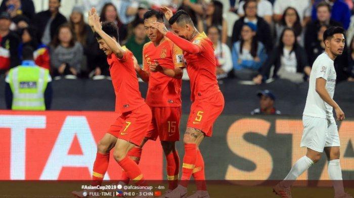 Hasil Piala Asia 2019 - Tersisa 1 Laga, Timnas China Lolos Mulus ke Babak 16 Besar