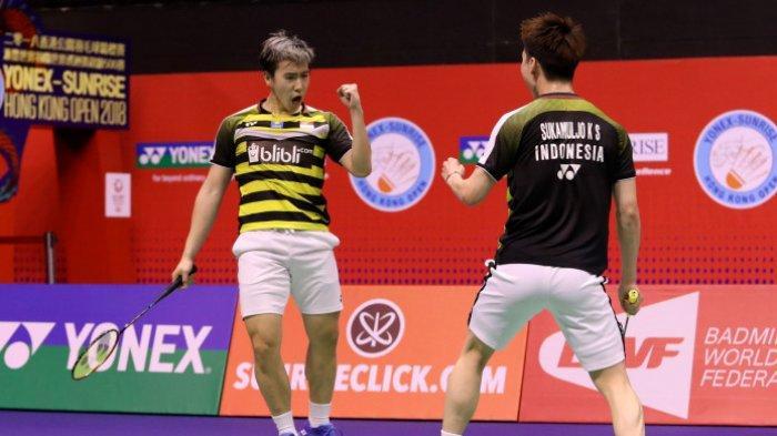 Hasil Indonesia Open 2019 Perempatfinal Marcus/Kevin dan Ahsan/Hendra ke Semifinal, Jojo Takluk