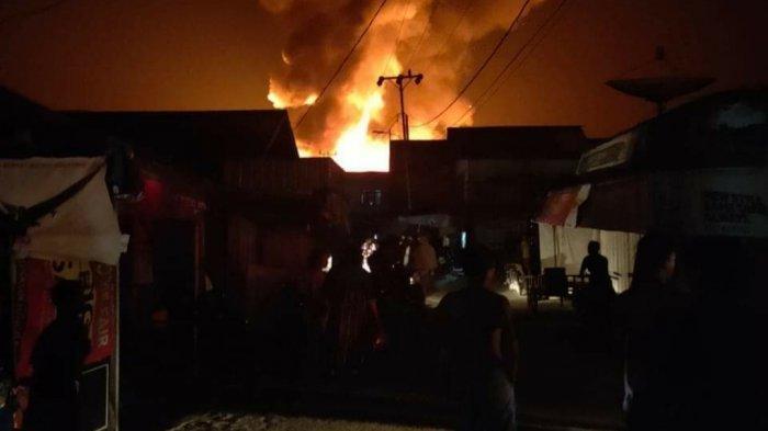 Kebakaran Pasar Pujon Kapuas Terulang, Mengingatkan Kembali Kejadian Tujuh Tahun Silam