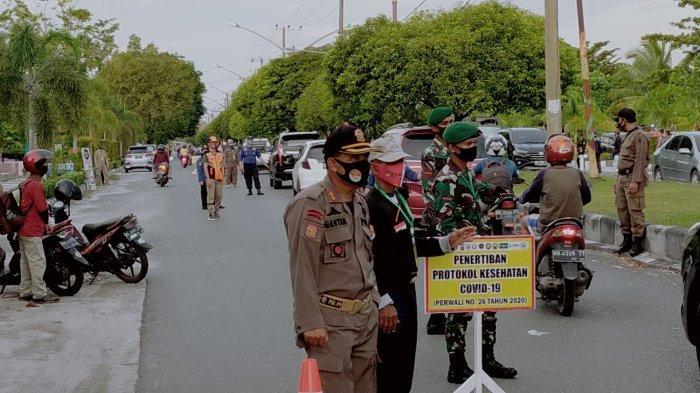 Patroli Penggunaan Masker Hingga ke Kawasan Rumah Sakit dan Asrama Haji Palangkaraya