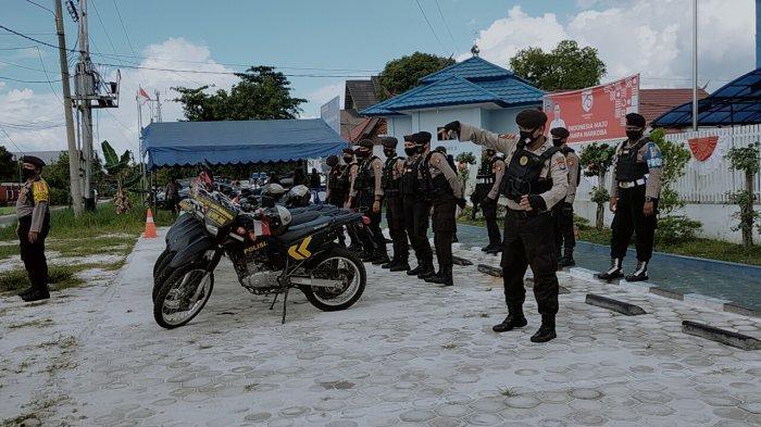 Patroli Motor Kamtibmas Polresta Palangkaraya Sambangi Kawasan Pasar Besar