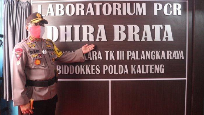 Kapolda Kalteng Resmikan Laboratorium PCR RS Bhayangkara Palangkaraya, Tracing Makin Agresif