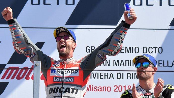 Juara di Balapan MotoGP San Marino, Andrea Dovizioso Masih Belum Akui Motor Ducati yang Terbaik