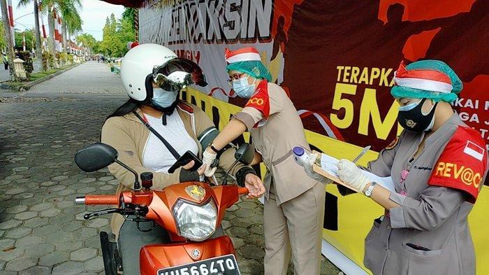 Covid-19 di Kalteng, Polda Gelar Vaksinasi Drive Thru Serentak Kabupaten/Kota, Target 6.000 Vaksin