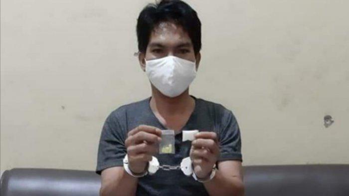 Simpan Narkoba di Badan, Pemuda Gunungmas Kalteng Tak Berdaya Diciduk Polisi