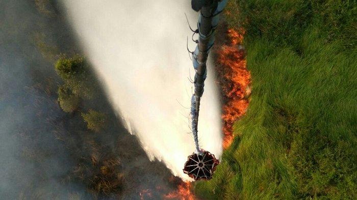 Titik Api Bermunculan di Kalteng, Empat Helikopter Pembom Air Dikerahkan