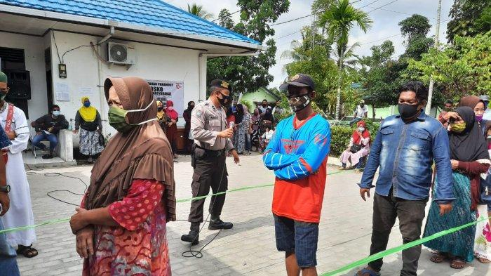 Pembagian Bansos dan BLT Tahap Dua di Palangkaraya, 500 Penerima Wajib Pakai Masker