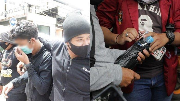 Tujuh Pemuda Ini Diduga Mabuk, Diamankan Polisi Saat Demo Omnibus Law UU Cipta Kerja di Banjarmasin