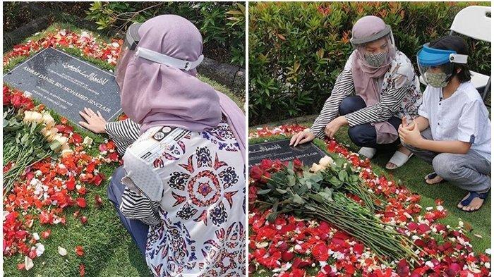 Penampilan Bunga Citra Lestari Bersama Noah Saat Kunjungi Makam Ashraf Sinclair Jadi Sorotan