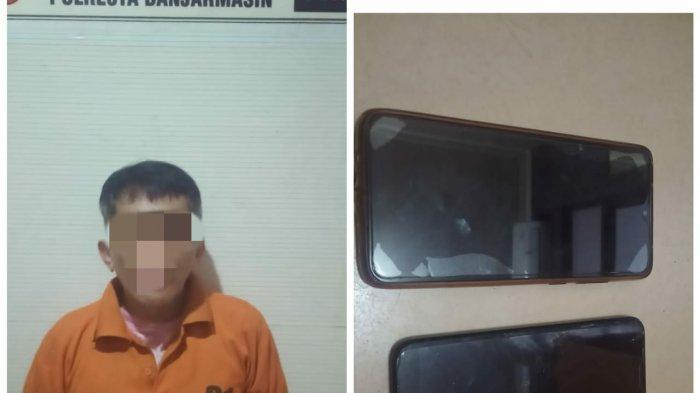 Pria Paruh Baya Tertangkap Curi Gawai di Kelurahan Basirih Banjarmasin Kalsel