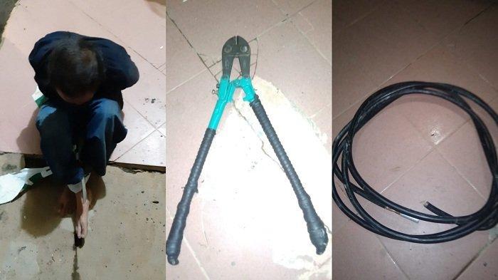 Curi Kabel Listrik di Gardu Travo PLN, Warga Kalsel ini Dibekuk Petugas. Satu Pelaku Kabur