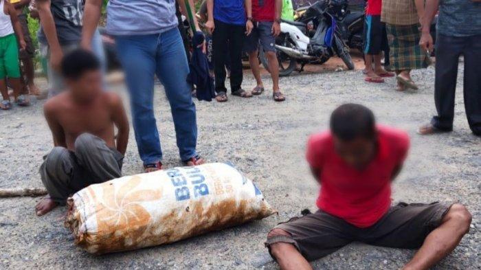 Kepergok saat Beraksi, Dua Pencuri Karet ini Diamankan di wilayah Pulau Petak Kapuas