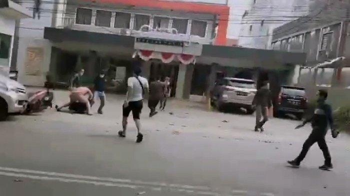 3 Orang Pengancam Polisi Banjarmasin Dibekuk, Terdengar Suara Tembakan