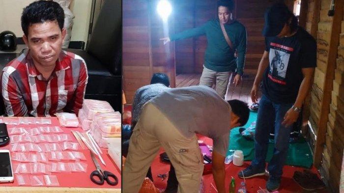 Ditemukan 59 Paket Sabu & 15 Butir Ineks di Rumah Sewaan di Palangkaraya, Polisi Ringkus Pengedarnya