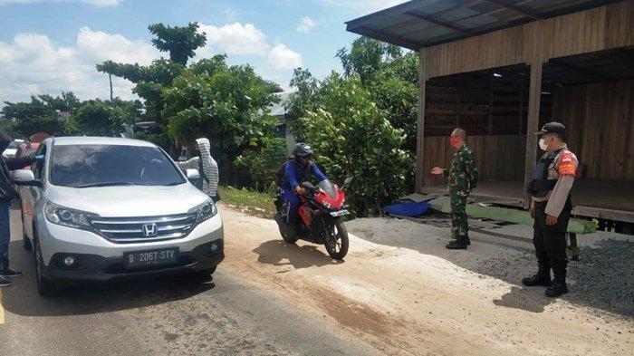 Jalur Lintas Perbatasan Palangkaraya Poros Tengah Tetap di Jaga Ketat, Cegah Covid-19