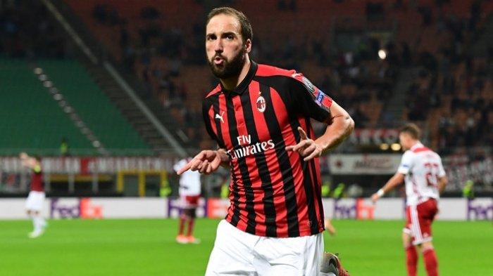 Liga Italia, Higuain Jadi Ujung Tombak Ciptakan Gol Bagi AC Milan Kontra Inter Milan Minggu Ini