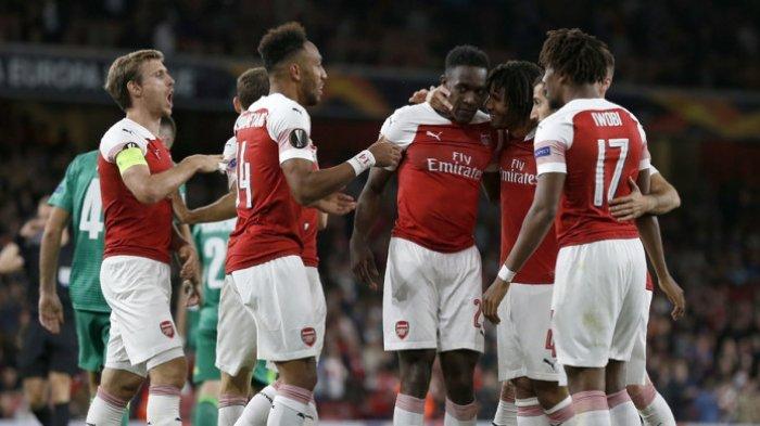 Arsenal di Puncak Klasemen Grup E Liga Europa Usai Bantai Vorskla dengan Skor 4-2