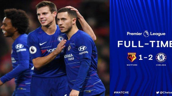 Gol ke-100 Eden Hazard Bawa Chelsea Mendekati Manchester City di Liga Inggris Pekan ke-19