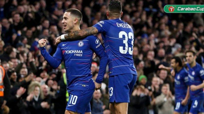 Hasil Piala Liga Inggris - Gol Tunggal Eden Hazard Bawa Chelsea Ikuti Tottenham Hotspur ke Semifinal