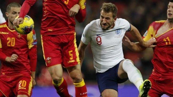 Euro 2020 - Inggris Menang 7 Gol Tanpa Balas Kontra Montenegro, Harry Kane Hat-trick
