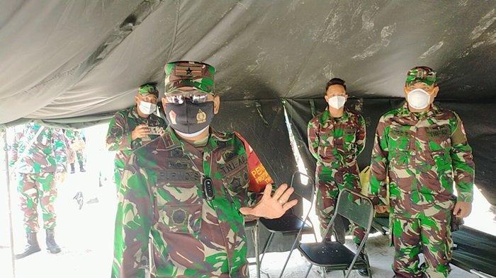 Komandan Korem 102 Panju Panjung Brigjen Pol Purwo Sudaryanto, saat meresmikan rumah sakit lapangan TNI AD di Jalan Diponegoro Palangkaraya.