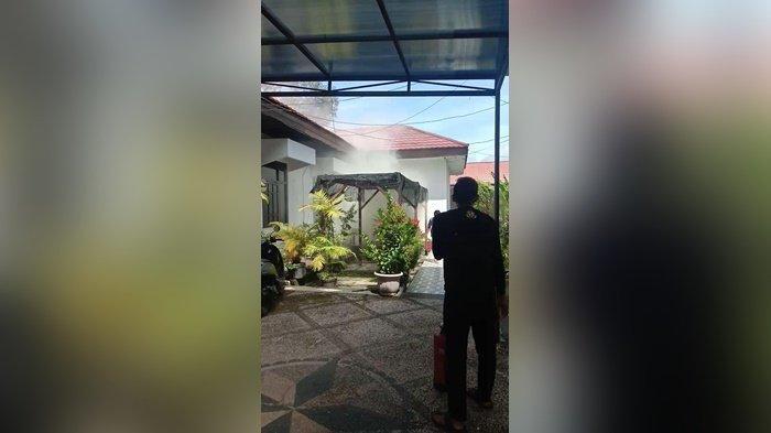 Geger Dapur Rumah Bupati Banjar Kalsel Diamuk Api