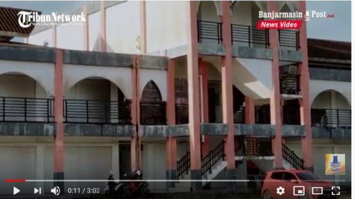 VIDEO Kios Pasar Eks Mentaya Sampit Banyak Tutup , Wahana Permainan Anak Ramaikan Pasar