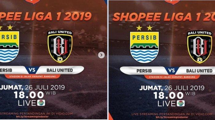 Liga 1 2019 Hari Ini Live Indosiar Persib Bandung vs Bali United Live Streaming Vidio.com Jam 18.30