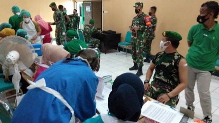 Ratusan Personel Kodim 1011/Kualakapuas Jalani Vaksinasi Covid-19