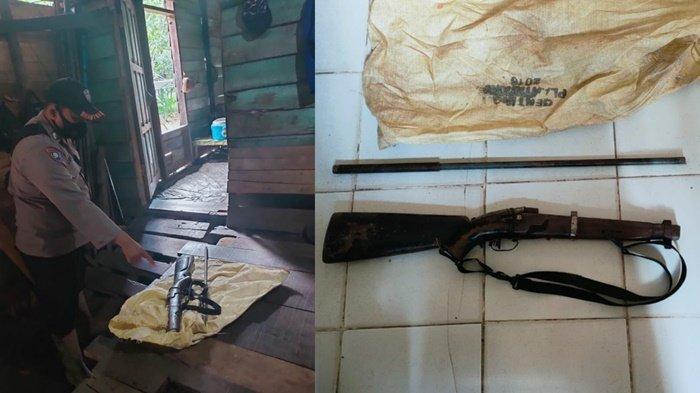 Simpan Senjata Api Rakitan, Lelaki Ini Diamankan Polsek Mantangai