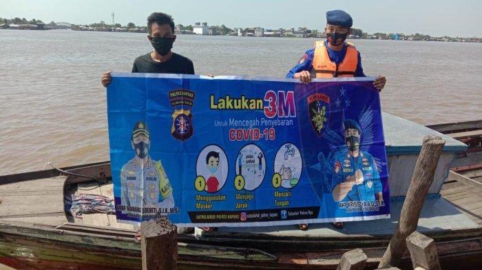 Penyedia Jasa dan Penumpang Transportasi Air di Kapuas Diingatkan Terus Patuhi Protokol Kesehatan