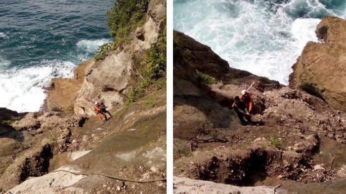 Jatuh Ke Jurang, Wisatawan yang Hilang di Pantai Patuk Gebang Tulungagung Ditemukan Selamat