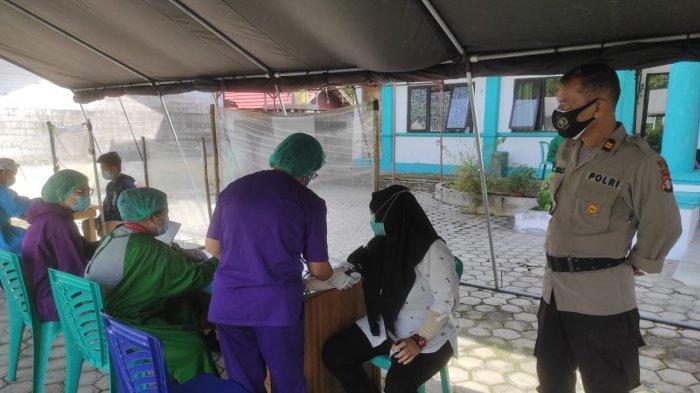 Polisi Pantau Kegiatan Vaksinasi Covid-19 untuk Nakes di Palangkaraya
