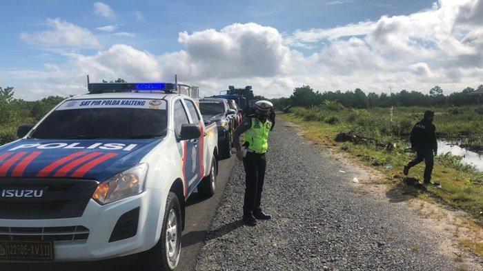 Patroli Polresta Palangkaraya Sosialisasi Larangan Membakar Lahan ke Pemilik Tanah di Kalteng