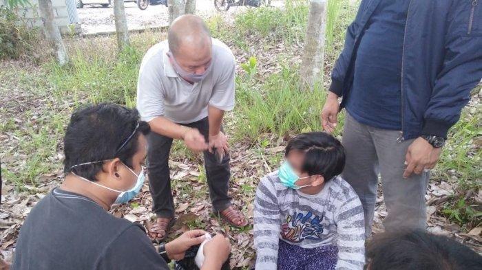 Pria Ini Ditangkap di pinggiran Jalan Rungan Palangkaraya, Bawa 101,05 Gram Sabu