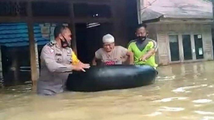 Banjir akibat Sungai Meluap, Warga Pulau Padang Barito Timur Kalteng Tak Bisa Menyadap Karet