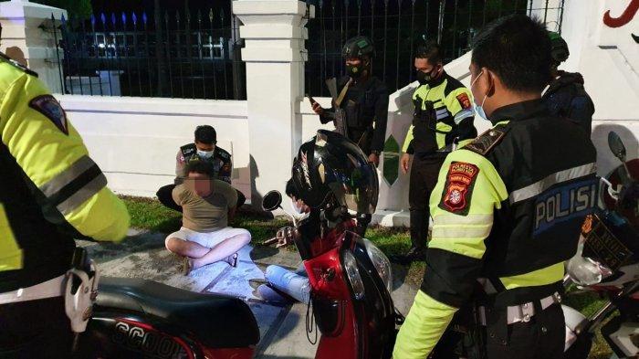 Patroli Cegah Balapan Liar, Petugas Satlantas Polresta Palangkaraya Malah Dapat Pengendara Bawa Sabu