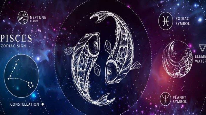 Ilustrasi zodiak pisces