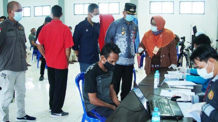 Pjs Wali Kota Pantau Perekaman KTP Elektronik di Lapas Banjarbaru