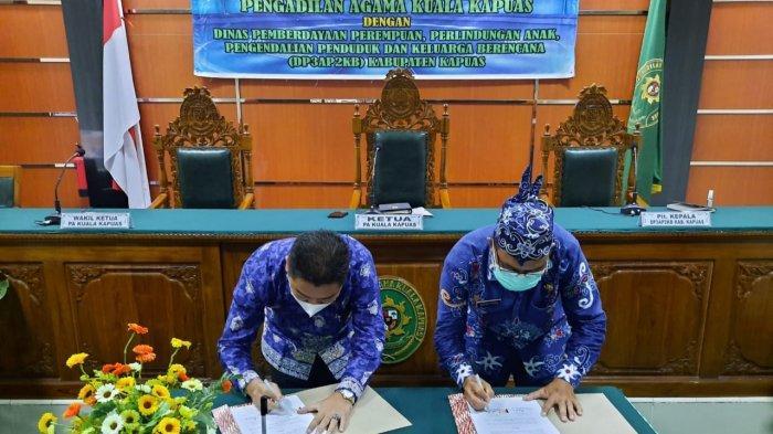 Pengadilan Agama dan DP3APPKB Kapuas Teken MoU Terkait Perlindungan Anak dan Perempuan