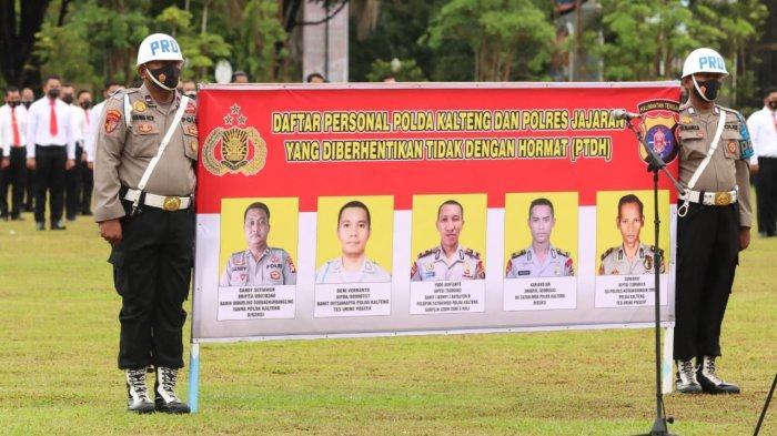 Lima Anggota Polri di Kalimantan Tengah Dicopot Terlibat Narkoba dan Indisipliner
